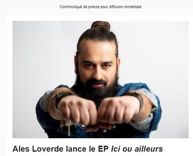 Ales Loverde lance son ep