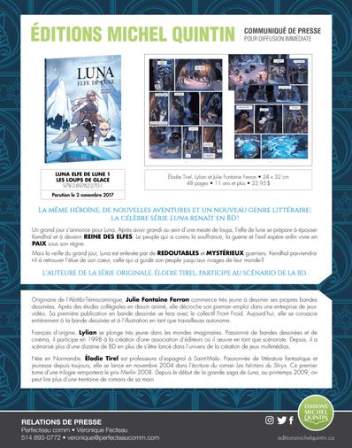 Luna, elfe de la lune, bientôt disponible!