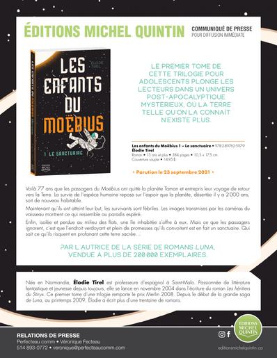 Les enfants du Moëbius, plonge les lecteurs dans un univers post-apocalyptique mystérieux