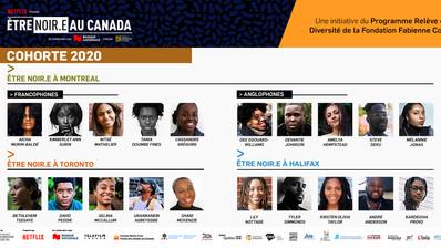 Le programme Être noir.e au Canada de la Fondation Fabienne Colas dévoile ses participants 2020