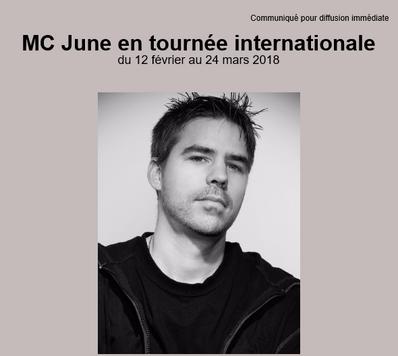 MC June en tournée internationale