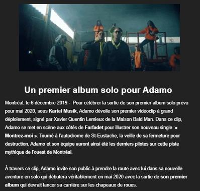 Un premier album solo pour Adamo