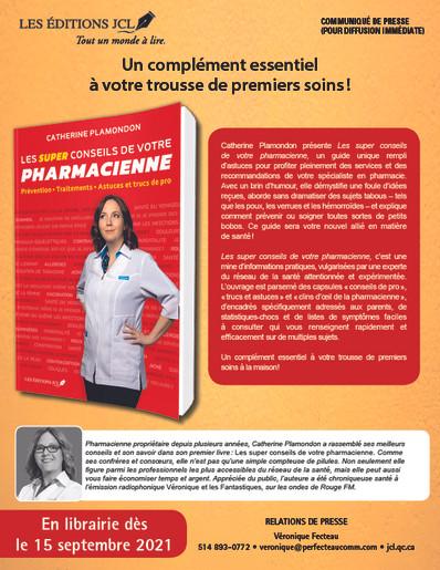 Les super conseils de votre pharmacienne, un complément essentiel à votre trousse de premiers soins!