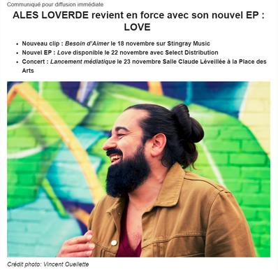 ALES LOVERDE revient en force avec son nouvel EP : LOVE