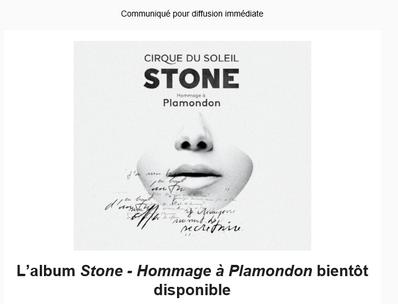L'album Stone - Hommage à Plamondon, bientôt disponible