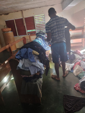 Sorting clothing in Jamaica