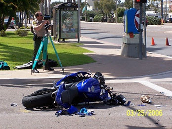 scene of the motorcycle accident from a different angle