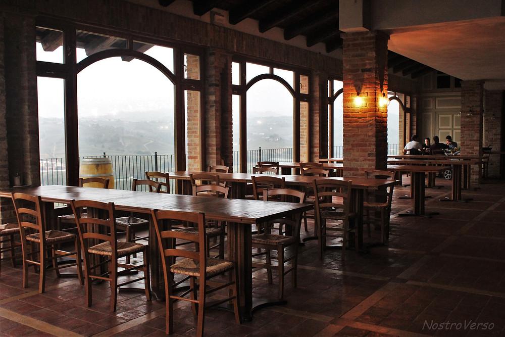 Restaurante e terraço na Agricola Marrone