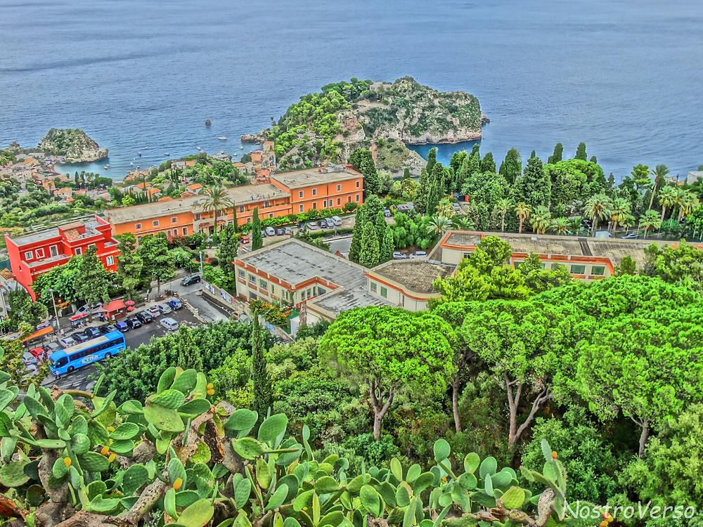 Isola Bella vista do Teatro Greco