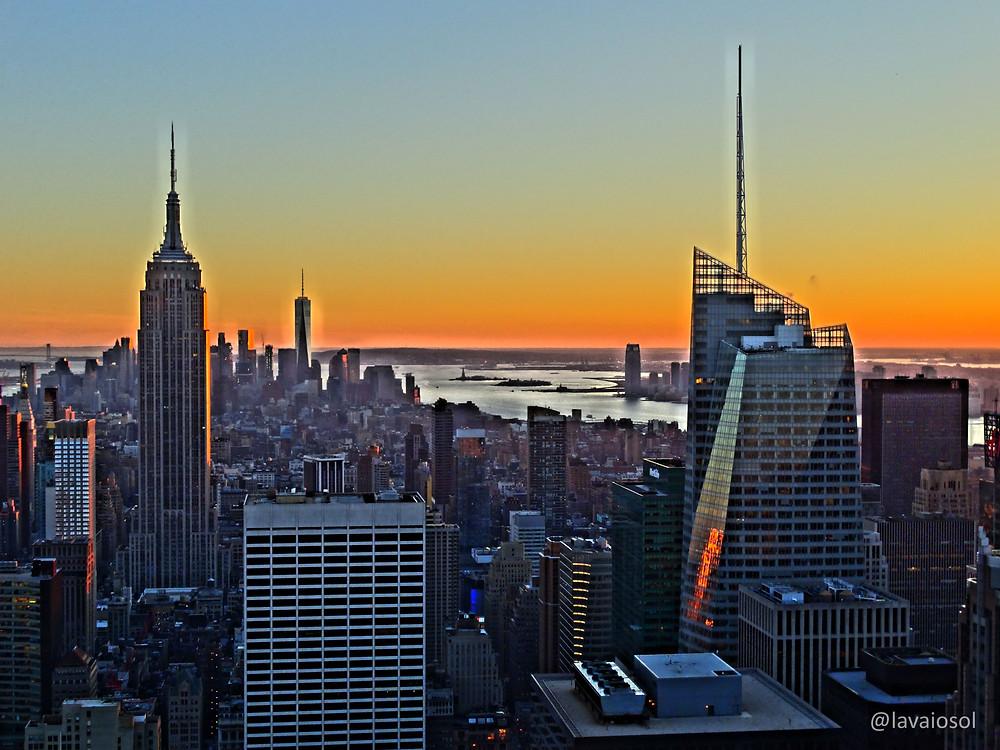 Pôr-do-sol em Nova Iorque