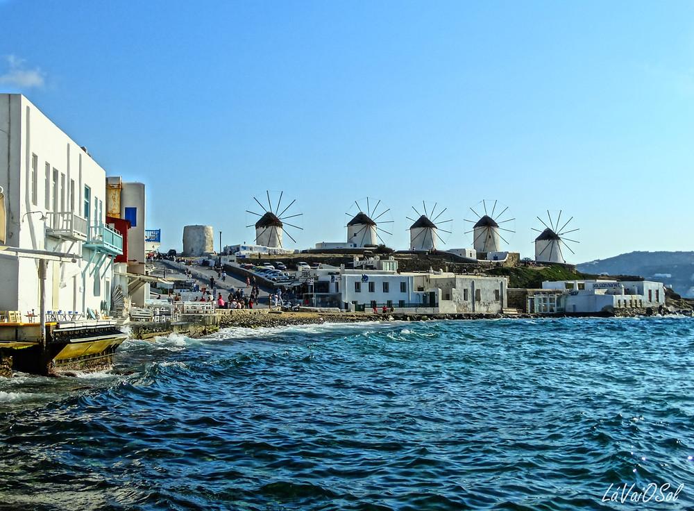 Moinhos em Míconos - Grécia