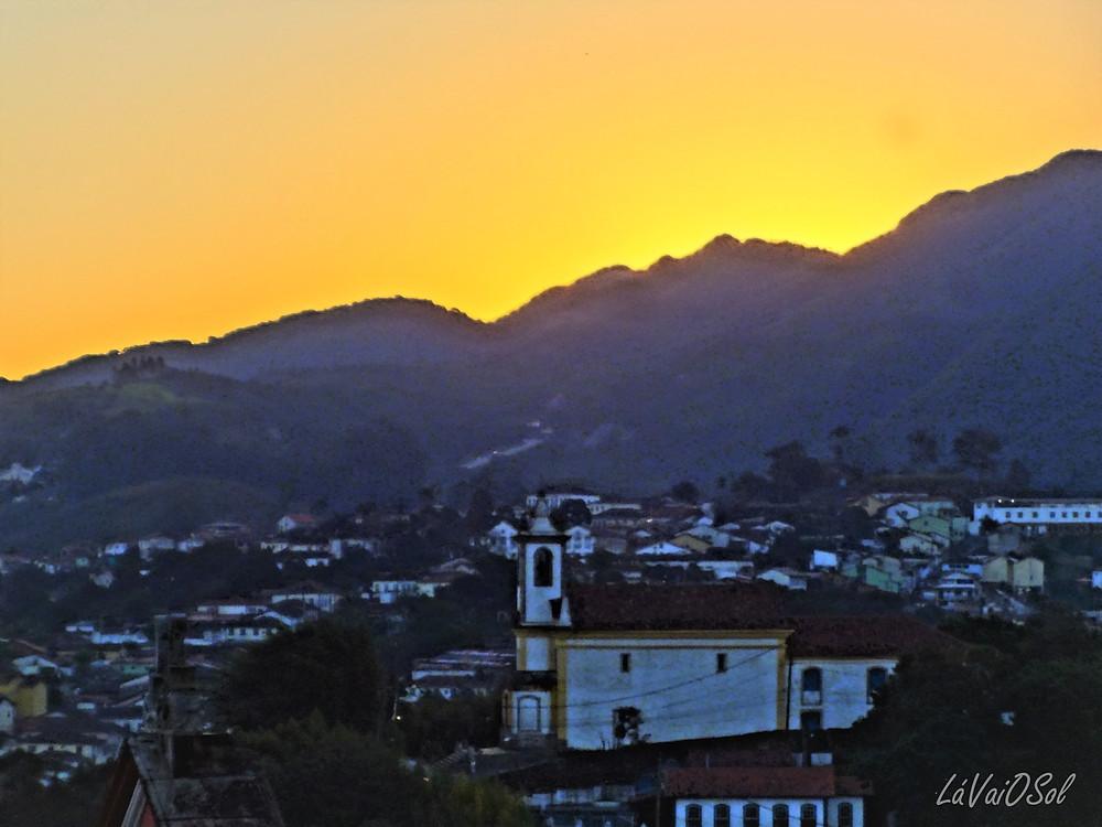 Pôr-do-sol em Ouro Preto - Minas Gerais