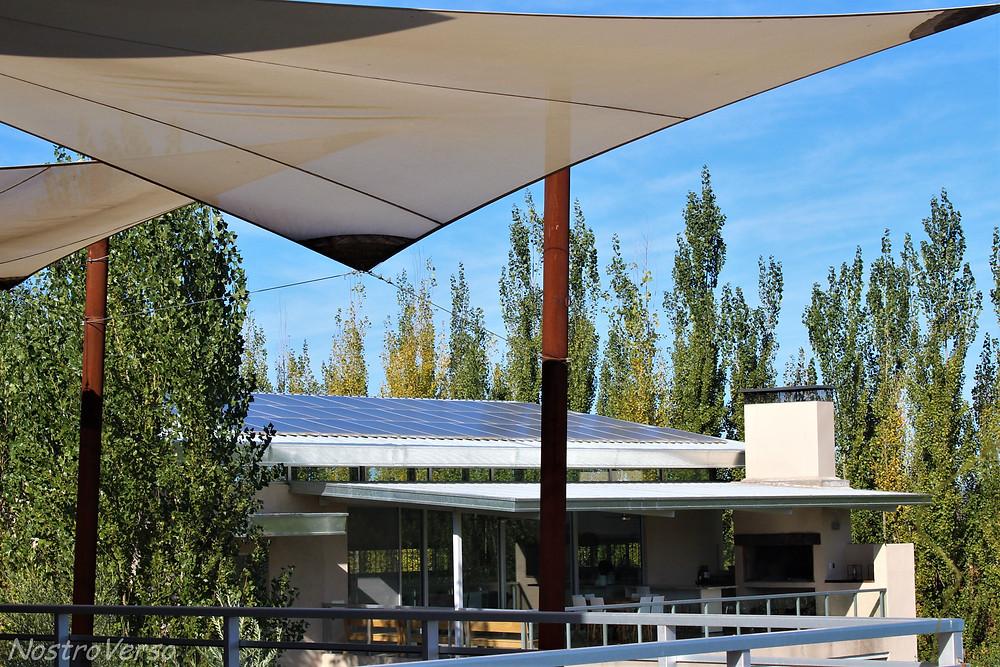 Paineis solares na Bodega Matervini