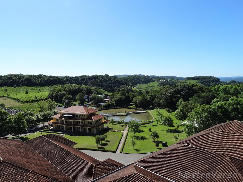Vista da torre da Miolo - Wine Garden