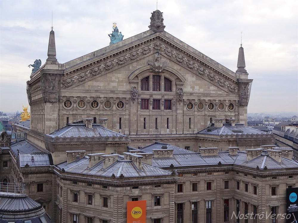Ópera Garnier vista da Galeria Lafayette