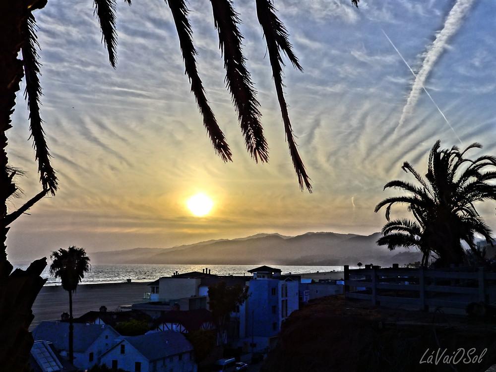 Pôr-do-sol em Santa Monica - Califórnia