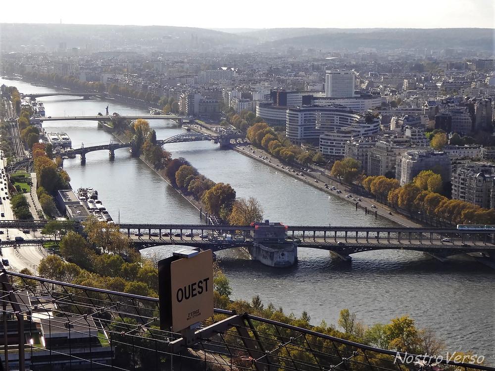 Rio Sena visto da Torre Eiffel
