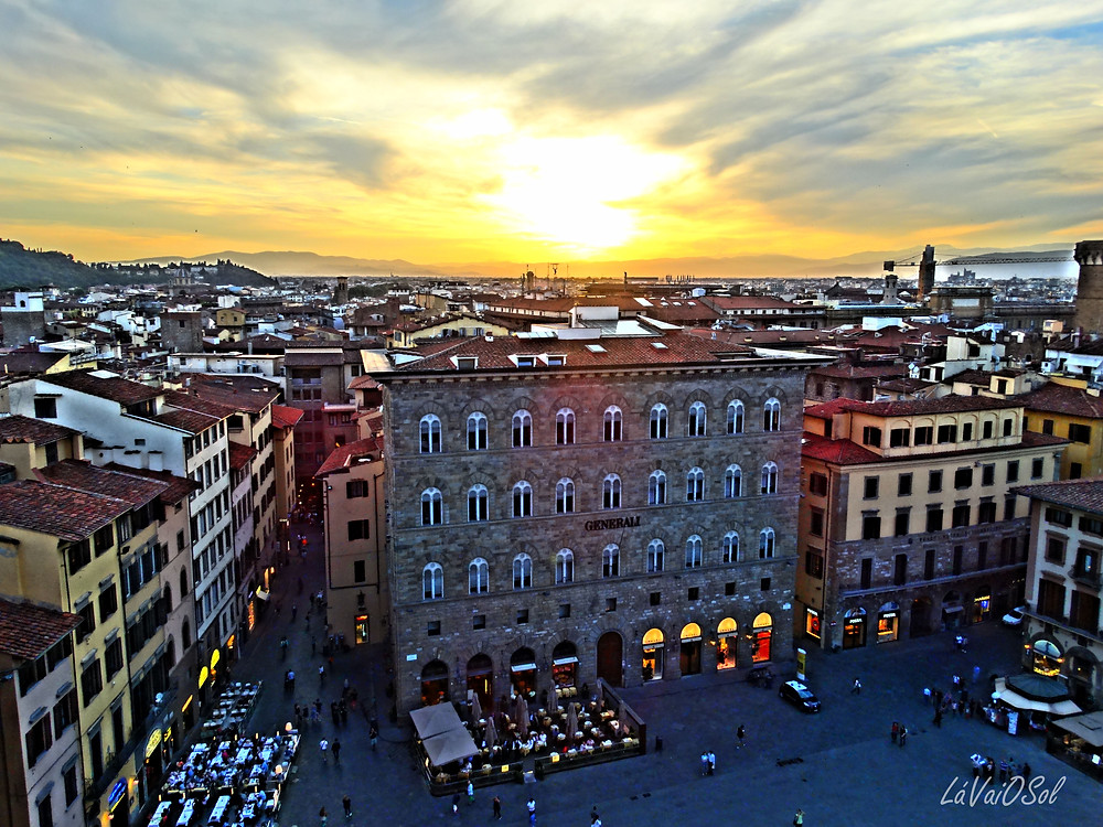 Pôr-do-sol em Florença