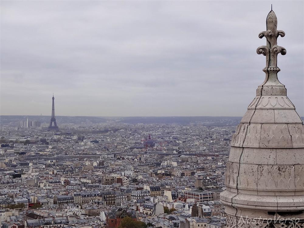 Torre Eiffel vista da cúpula da Sacré-Coeur