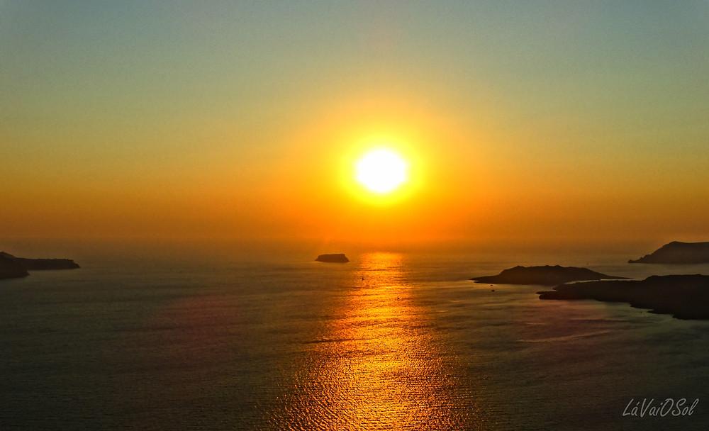 Pôr-do-sol em Santorini