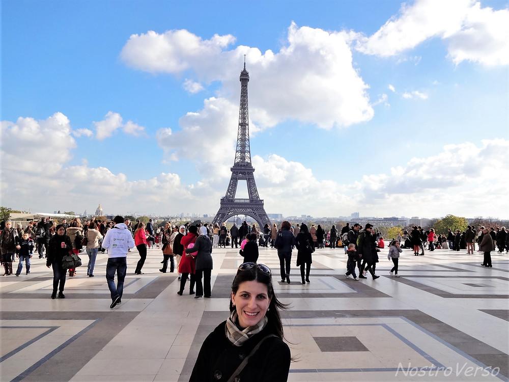 Primeira vista da Torre Eiffel!