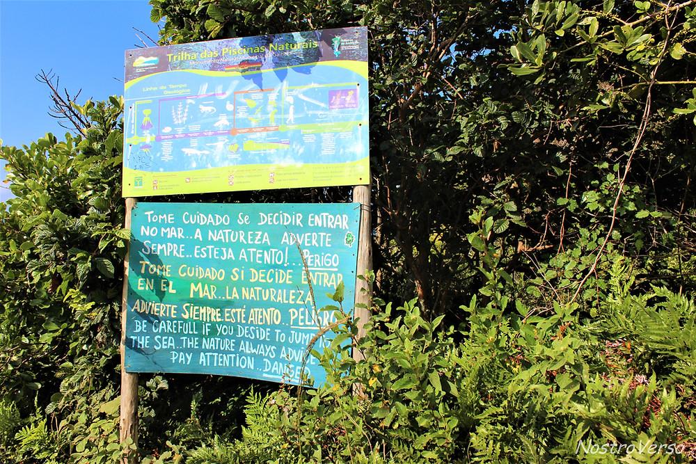 Atenção! Piscinas naturais da Barra da Lagoa