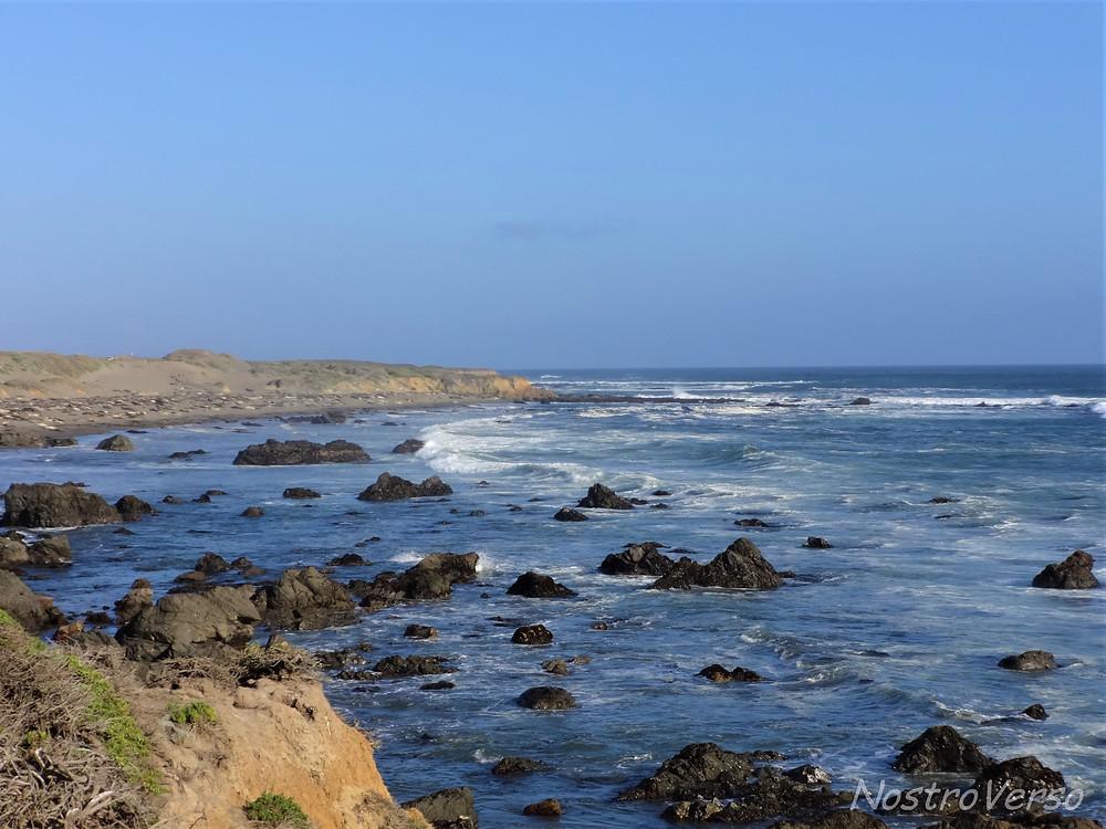 Praia em San Simeon - Rota 1