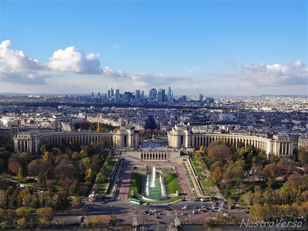 Jardins du Trocadéro vistos da Torre Eiffel