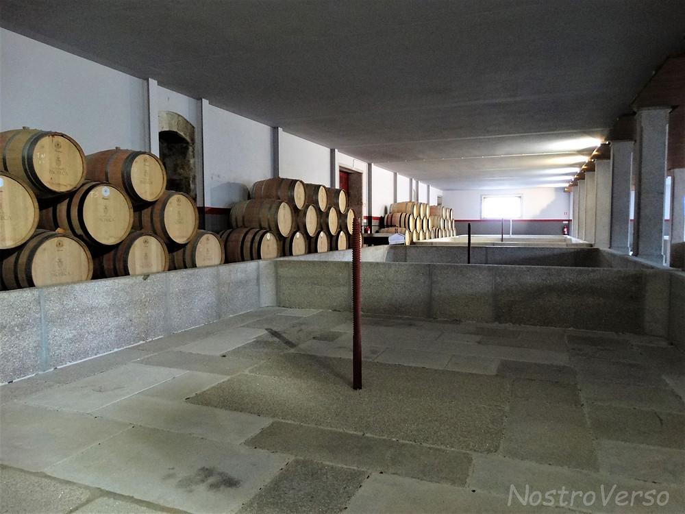 Tanques de pisa de uvas na Quinta da Pacheca
