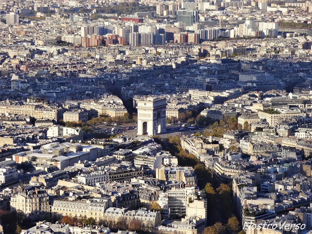 Arco do Triunfo visto da Torre Eiffel