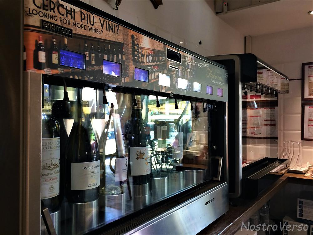 Degustação de vinhos na Macelleria Falorni