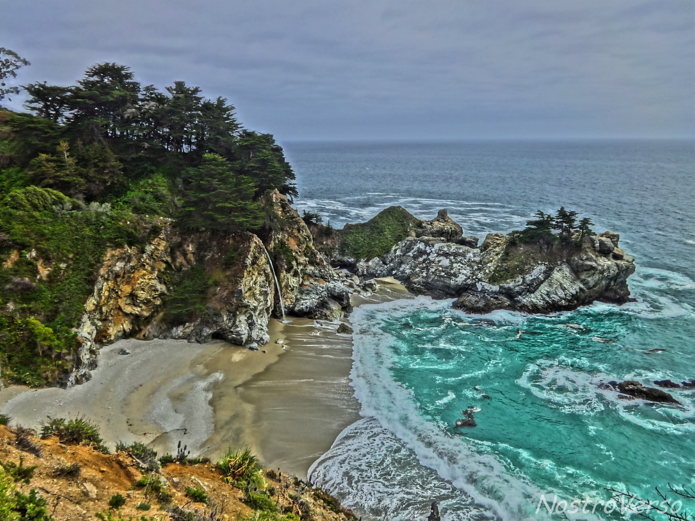 McWay Beach fall - Pfeiffer Burns State Park