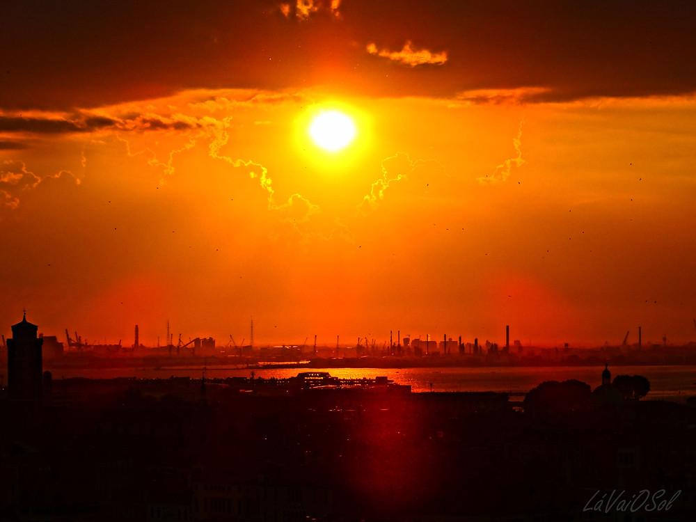 Pôr-do-sol em Veneza