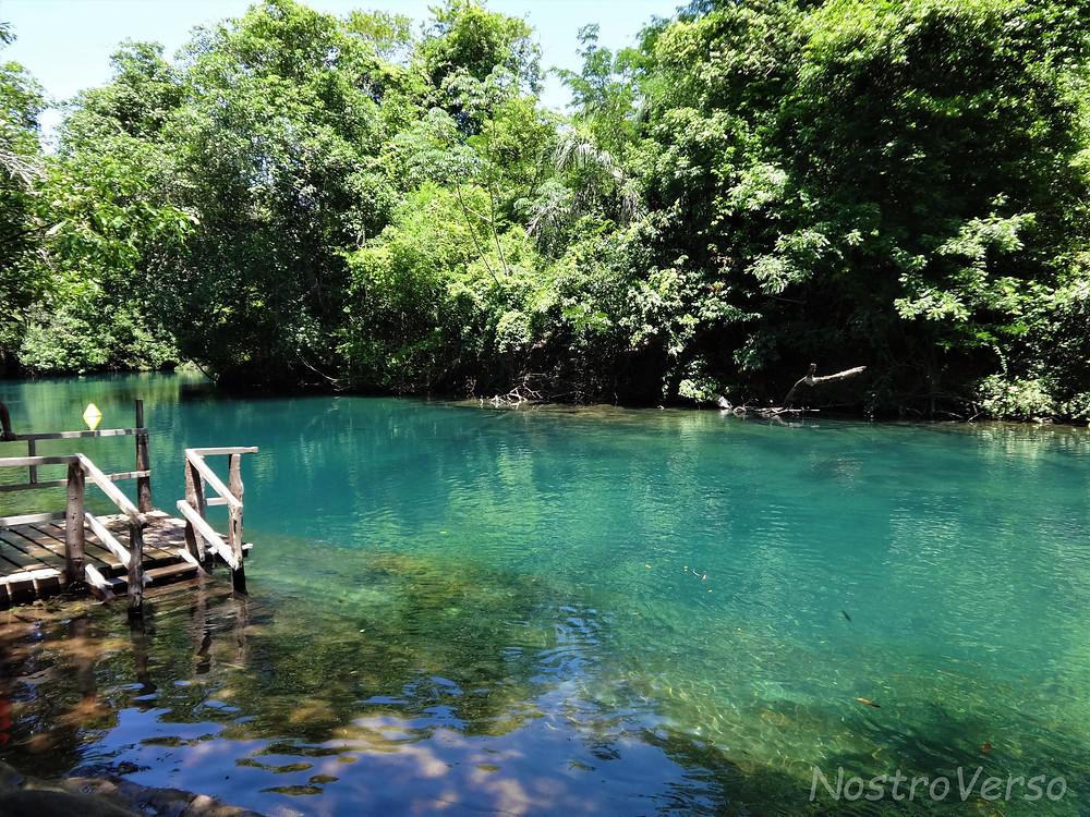 Ponto final da flutuação no Rio da Prata