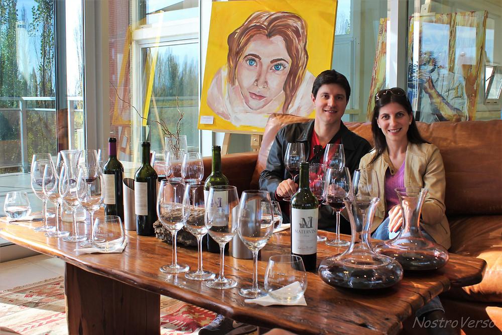 Degustação na vinícola Matervini