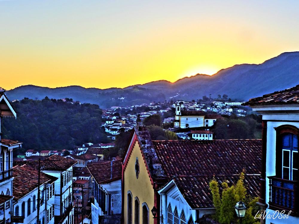 Pôr-do sol em Ouro Preto - Minas Gerais