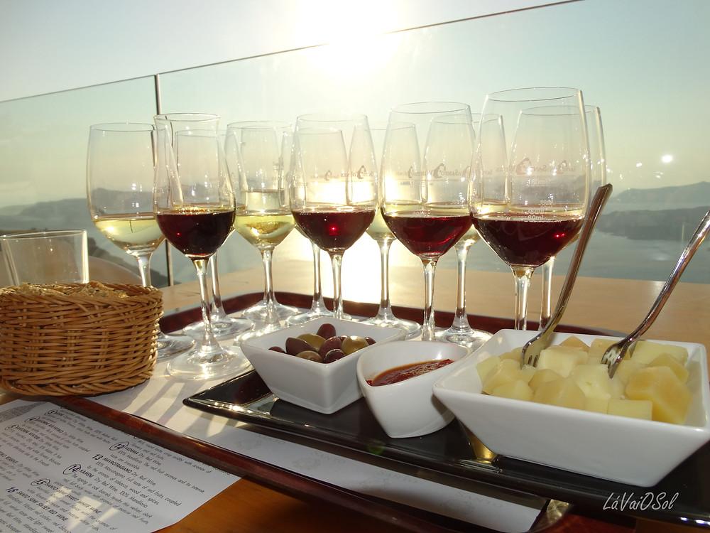 Degustação de vinhos na Santo Wine