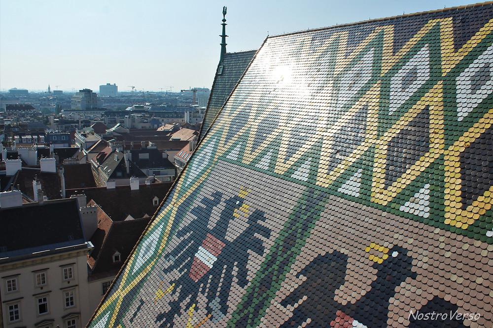 Vista da torre norte da Catedral de Santo Estevão em Viena