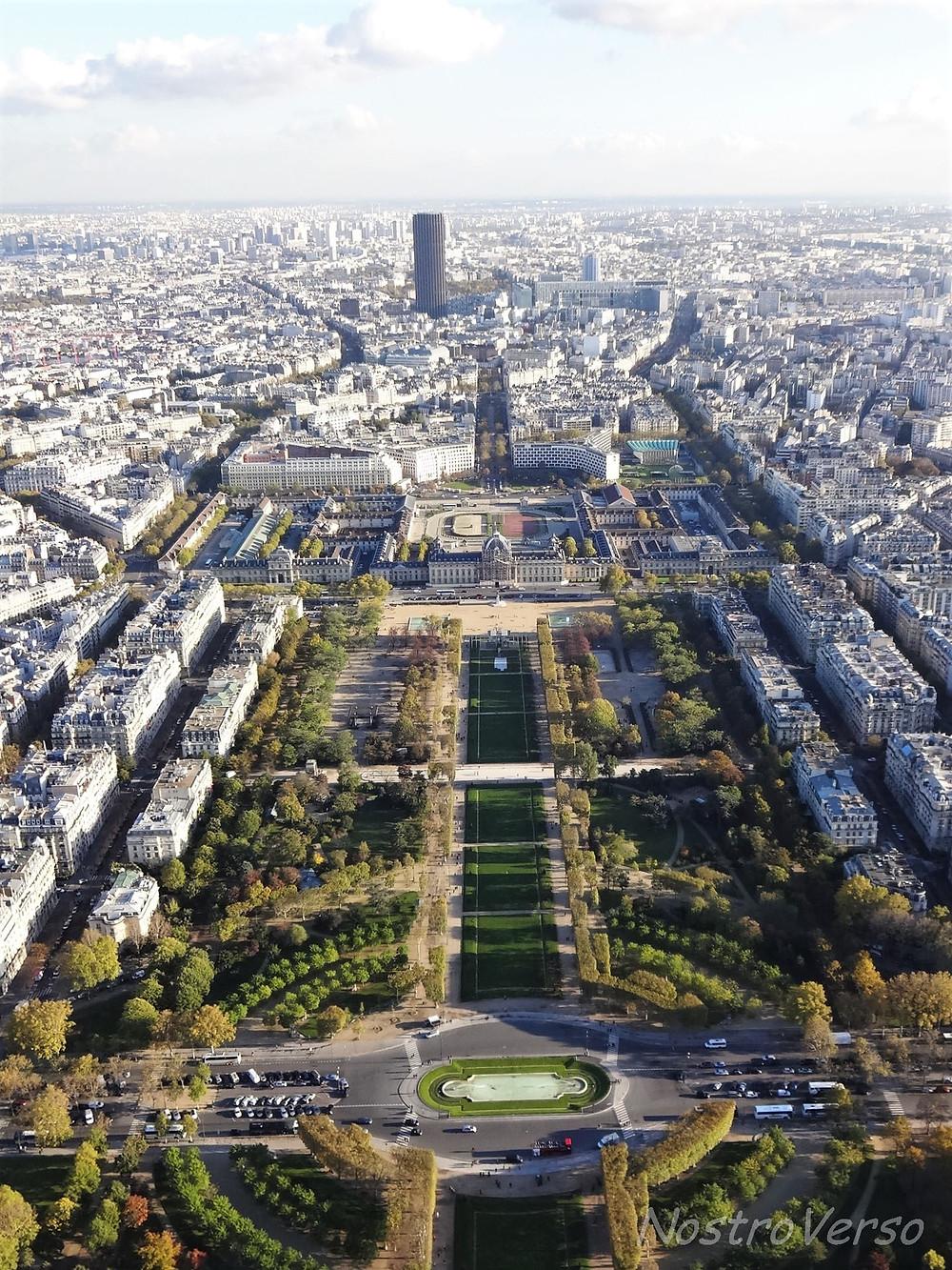 Champ de Mars visto da Torre Eiffel