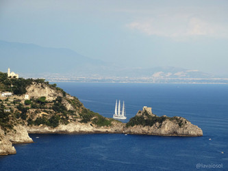 O nascer do sol na Costa Amalfitana