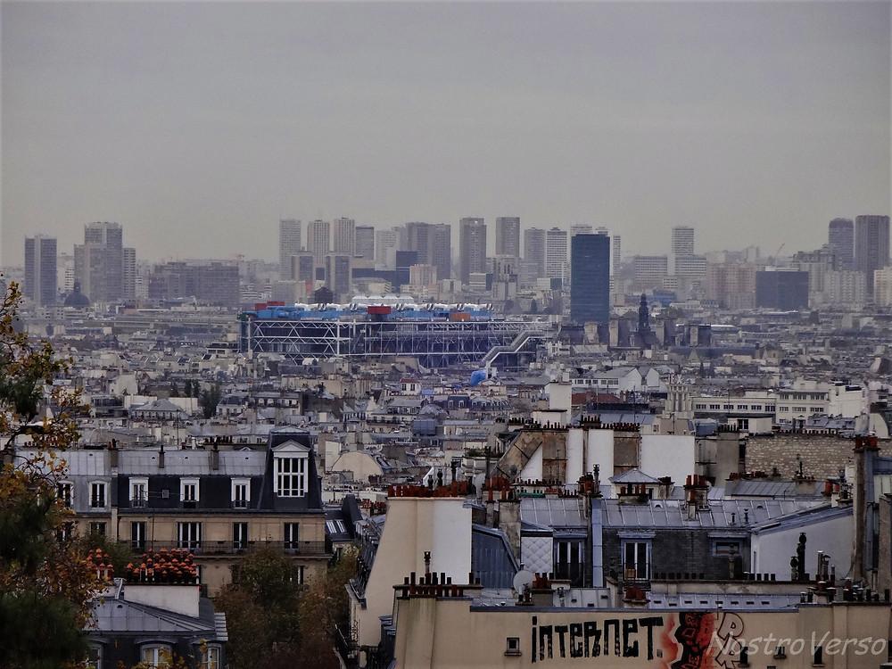 Pompidou visto da Sacré-Coeur