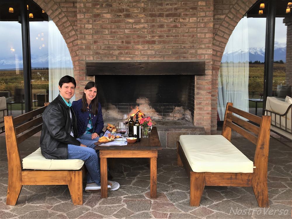 Almoço na vinícola Andeluna em Mendoza
