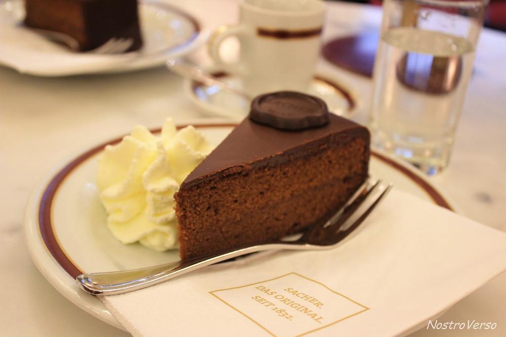 A original torta Sacher em Viena