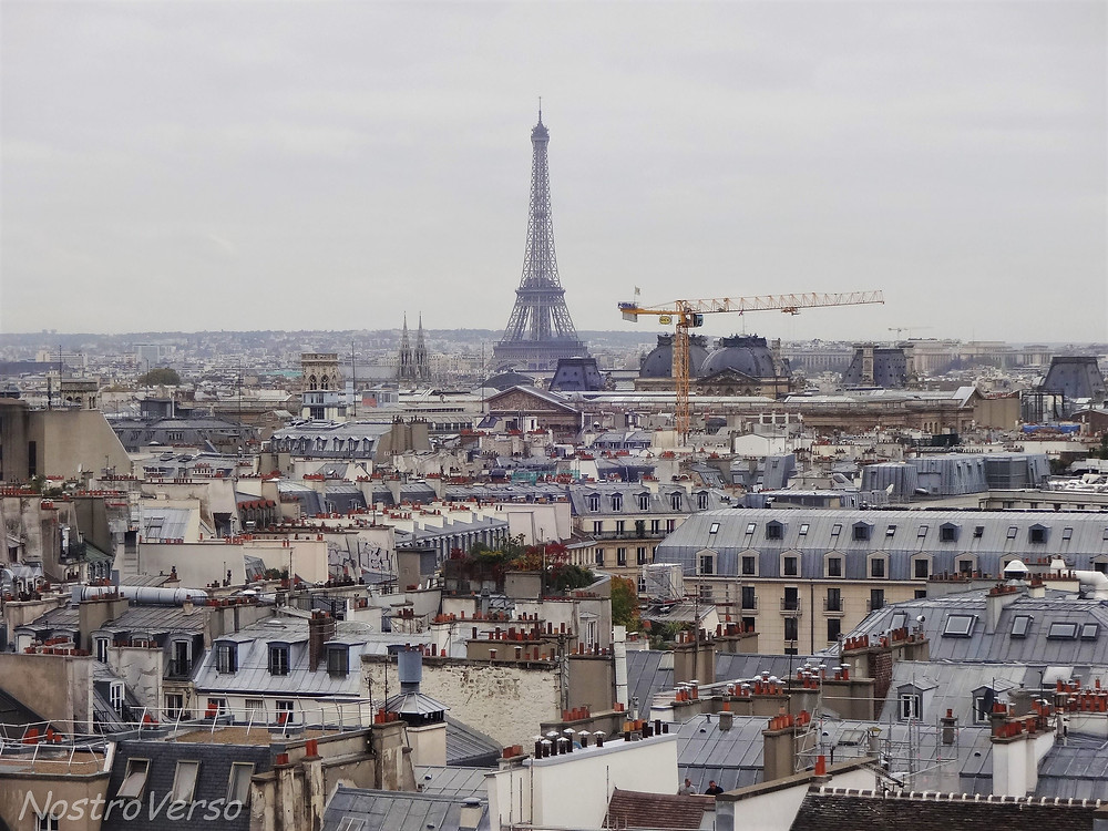 Torre Eiffel vista do Pompidou