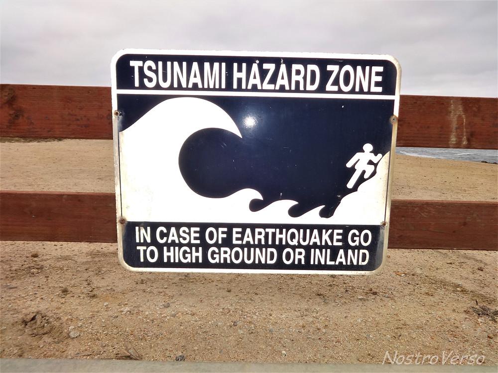 Área de risco de tsunami