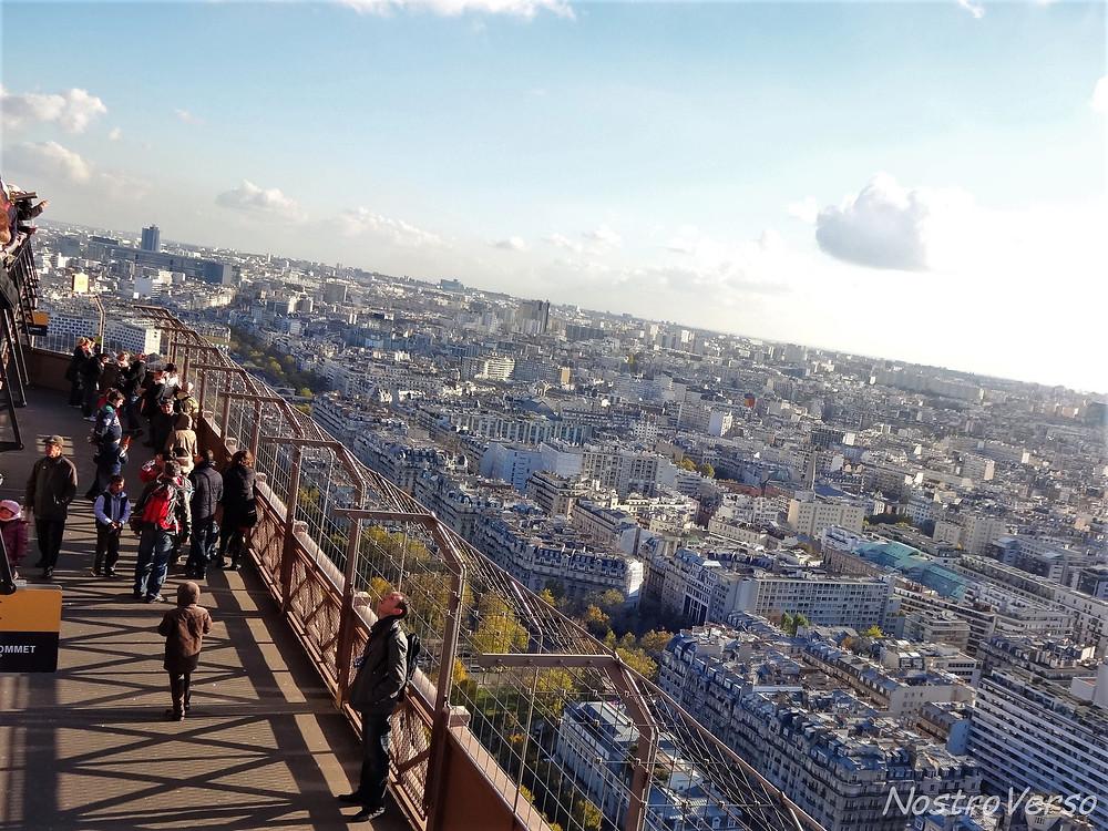Plataforma de observação na Torre Eiffel