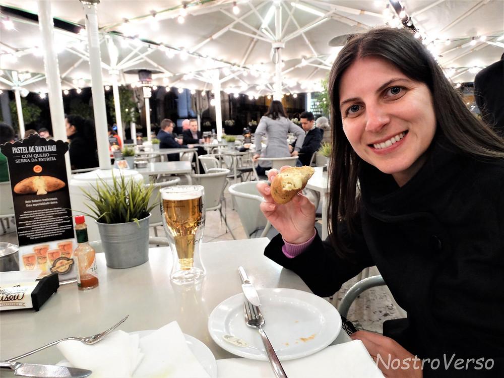 Pastel de bacalhau com queijo da serra da Estrela