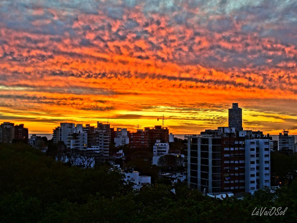 Pôr-do-sol em Montevidéu