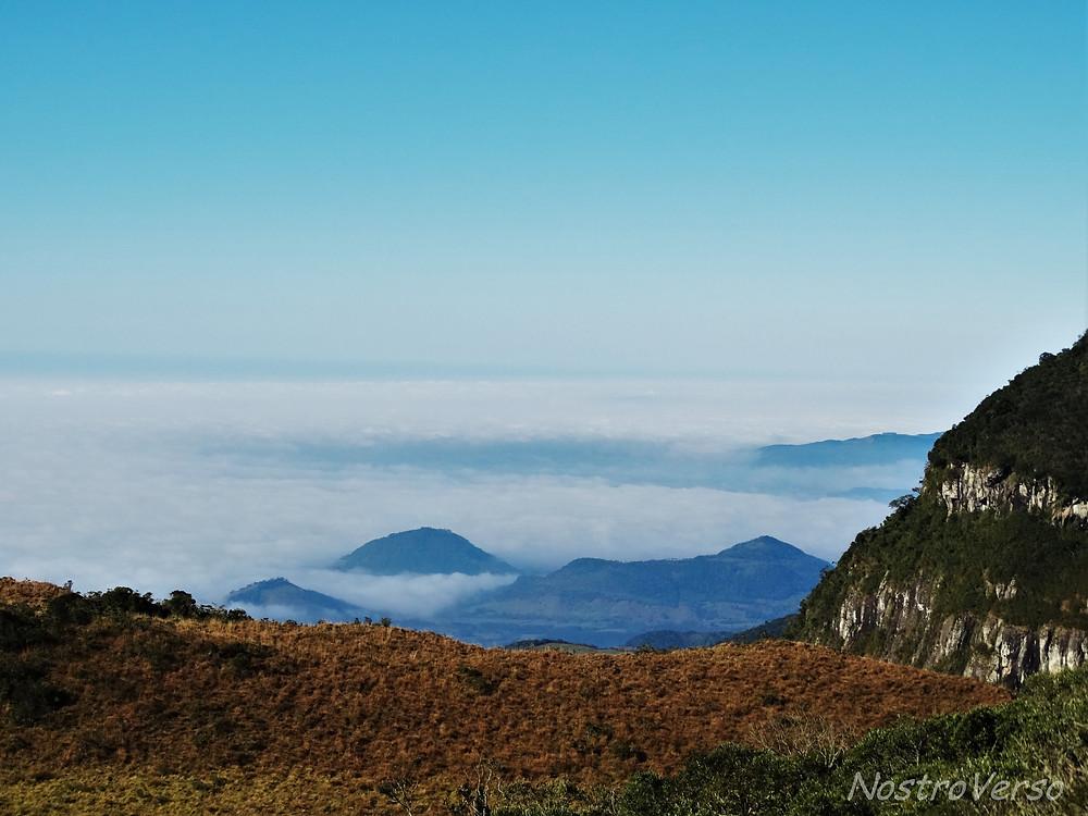 Nuvens nos cânions do sul do Brasil