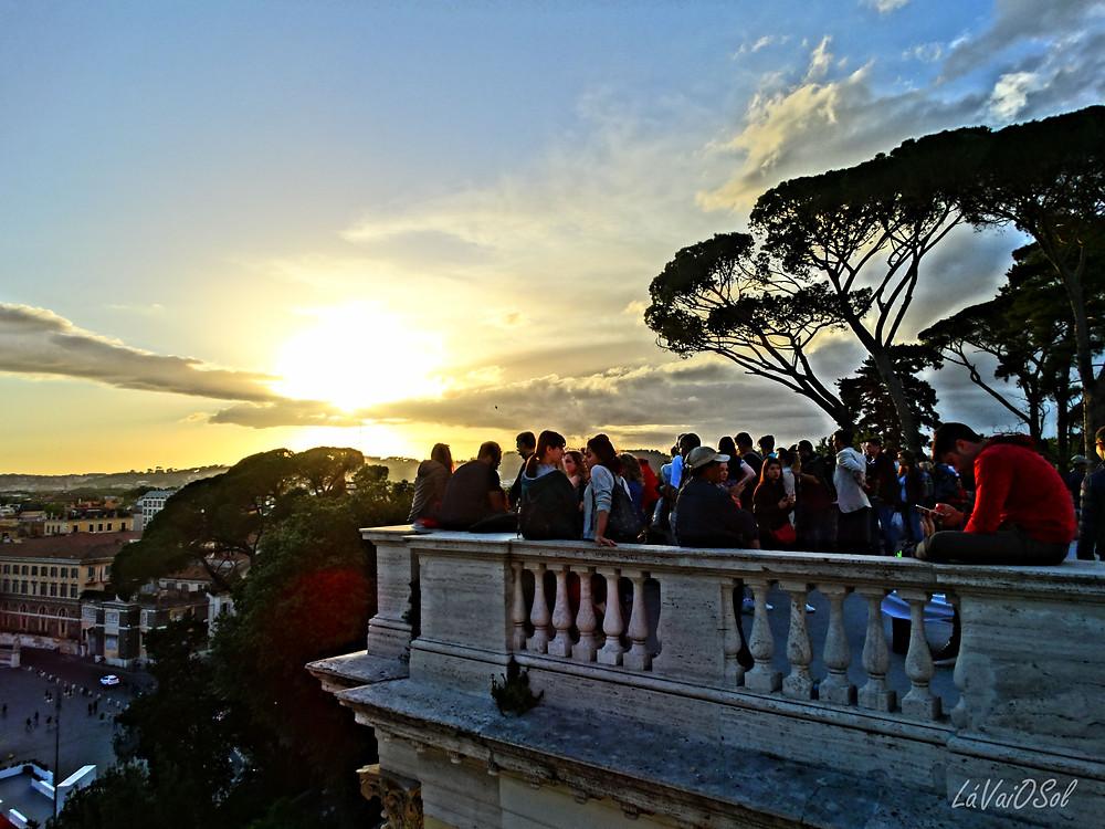 Pôr-do-sol em Roma